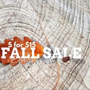 🦃5 for $15 FALL SALE!!! ENDS TONIGHT!